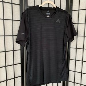 Men's Adidas Black Running Workout Shirt